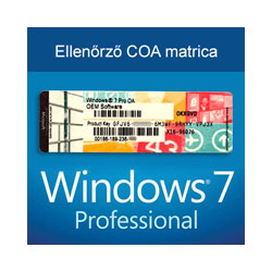 Windows 7 Professional (COA licenc matrica)